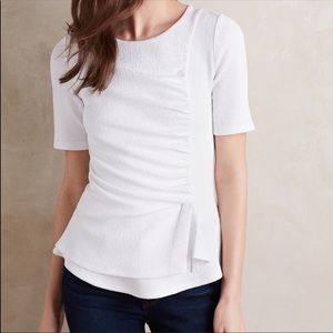 NWT ANTHROPOLOGIE Deletta Ripple Front Top